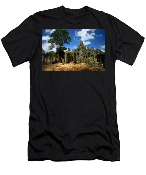 Bayon Temple View From The East Men's T-Shirt (Athletic Fit)