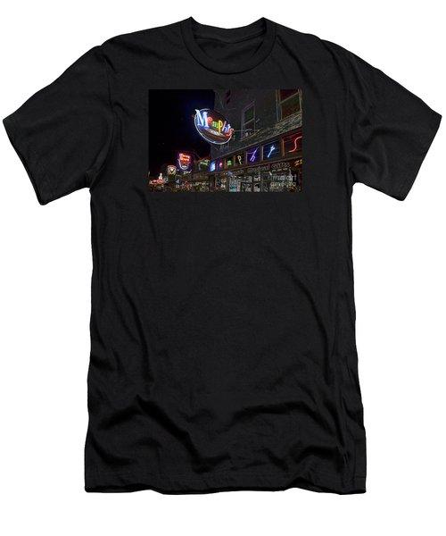 Beale Street Men's T-Shirt (Slim Fit) by Liz Leyden