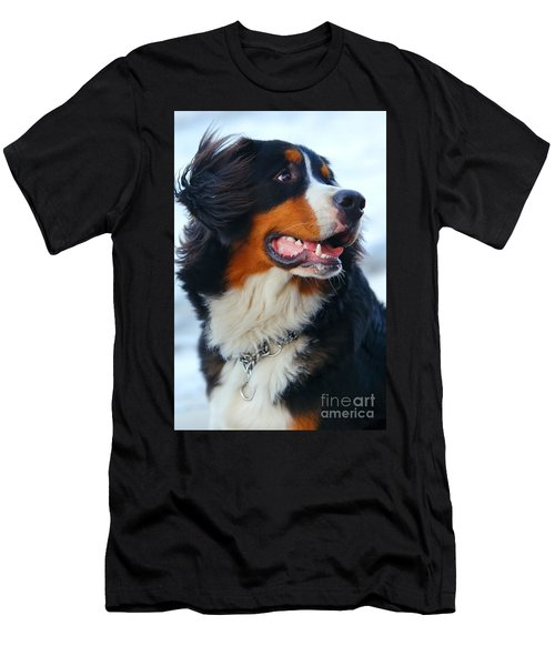 Beautiful Dog Portrait Men's T-Shirt (Athletic Fit)