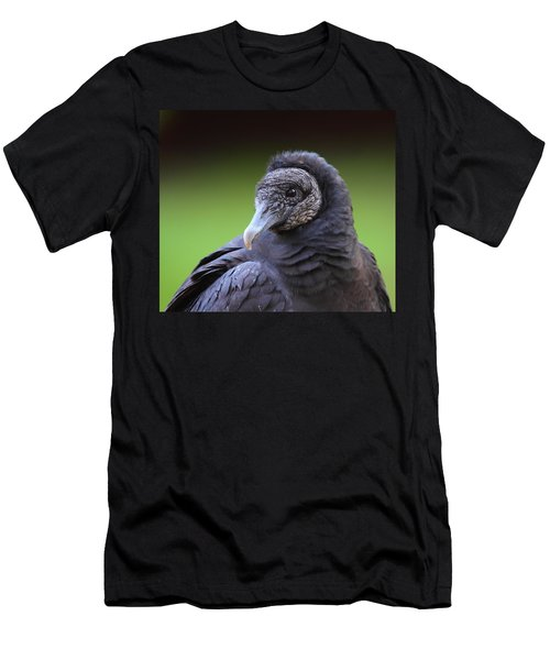 Black Vulture Portrait Men's T-Shirt (Slim Fit) by Bruce J Robinson