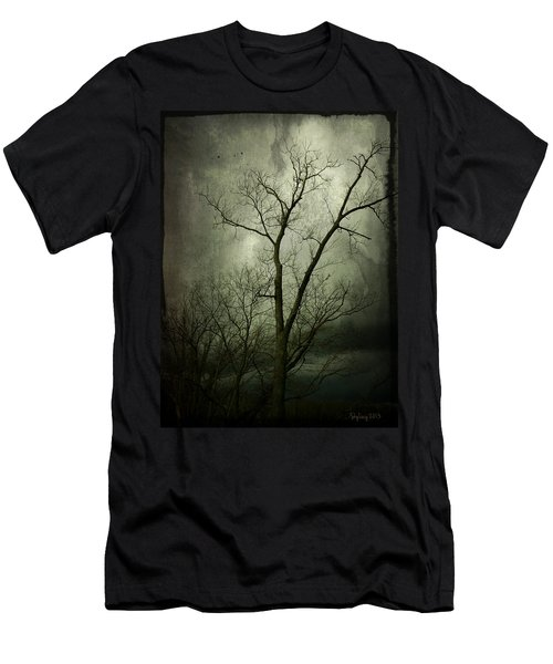 Men's T-Shirt (Slim Fit) featuring the photograph Bleak by Cynthia Lassiter