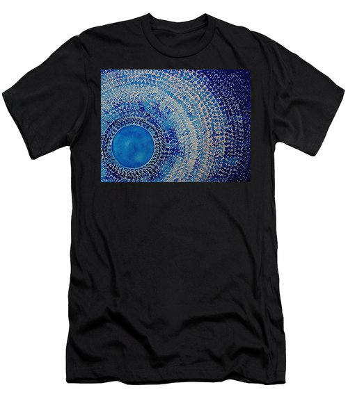 Blue Kachina Original Painting Men's T-Shirt (Athletic Fit)