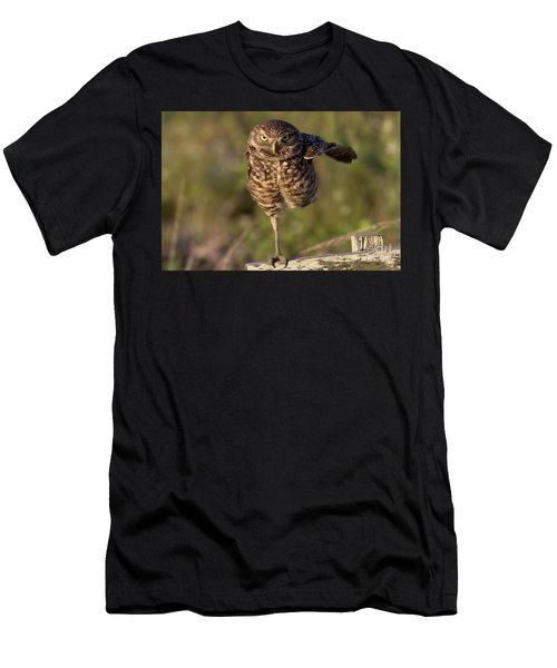 Burrowing Owl Photograph Men's T-Shirt (Athletic Fit)