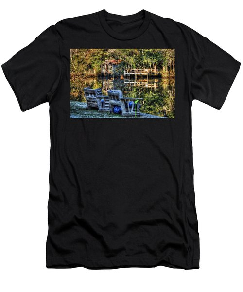 2 Chairs On The Magnolia River Men's T-Shirt (Athletic Fit)