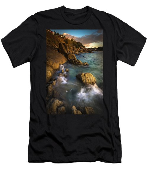Chanteiro Beach Galicia Spain Men's T-Shirt (Athletic Fit)