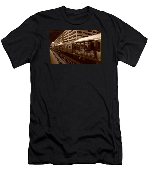 Chicago Cta Men's T-Shirt (Slim Fit) by Miguel Winterpacht
