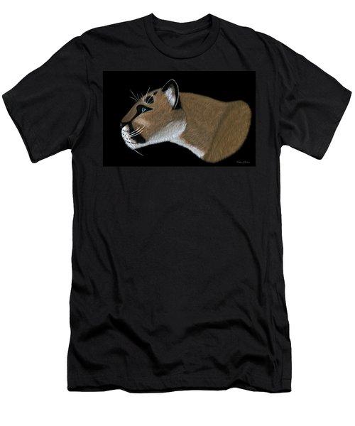 Cougar Portrait Men's T-Shirt (Athletic Fit)