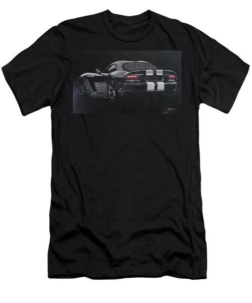 Men's T-Shirt (Athletic Fit) featuring the painting Dodge Viper 1 by Richard Le Page
