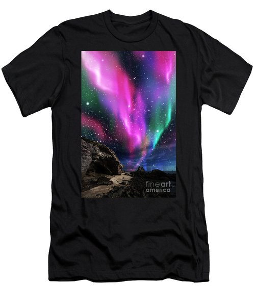 Dramatic Aurora Men's T-Shirt (Slim Fit) by Atiketta Sangasaeng