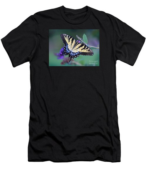 Eastern Tiger Swallowtail Butterfly On Butterfly Bush Men's T-Shirt (Athletic Fit)