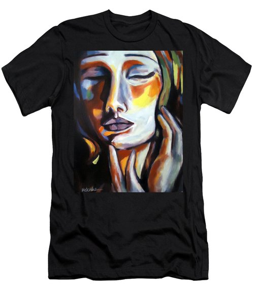 Men's T-Shirt (Slim Fit) featuring the painting Emotion by Helena Wierzbicki