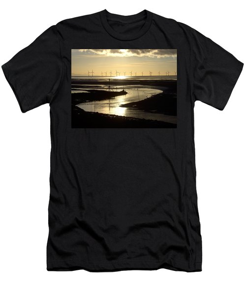 Evening Low Tide  Men's T-Shirt (Athletic Fit)