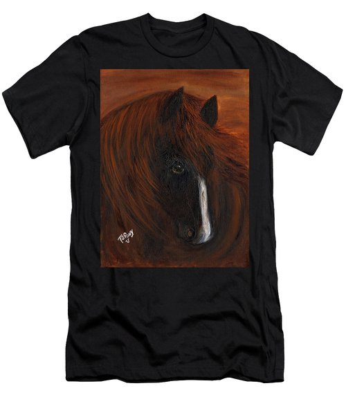 Men's T-Shirt (Slim Fit) featuring the painting Firestorm by Barbie Batson