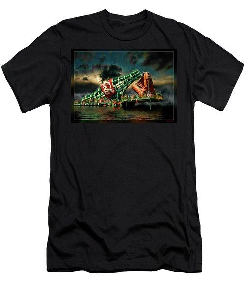 Floating Coke Bottle Men's T-Shirt (Athletic Fit)