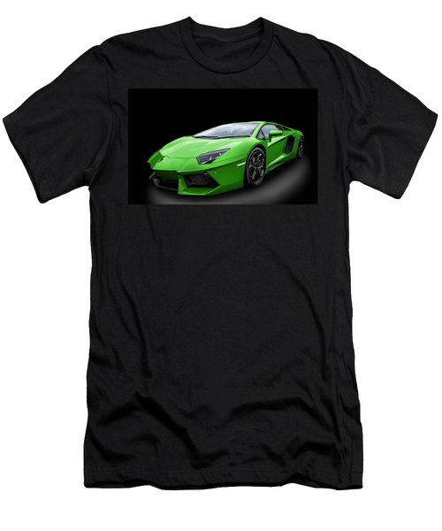 Green Aventador Men's T-Shirt (Athletic Fit)