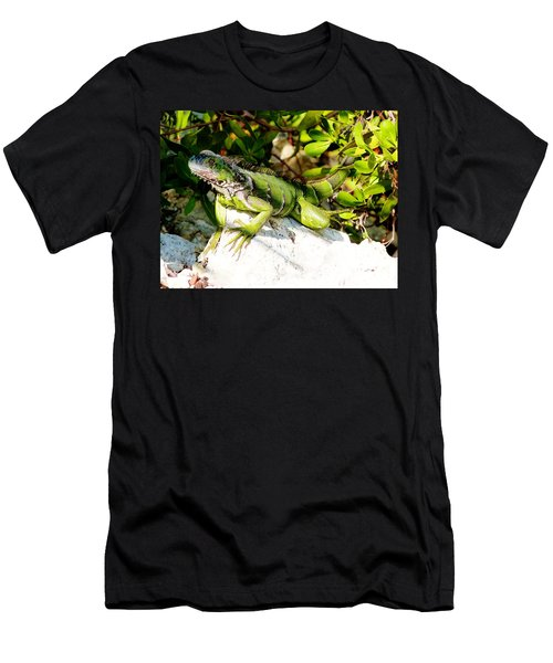 Men's T-Shirt (Slim Fit) featuring the photograph Green Iguana by Amar Sheow