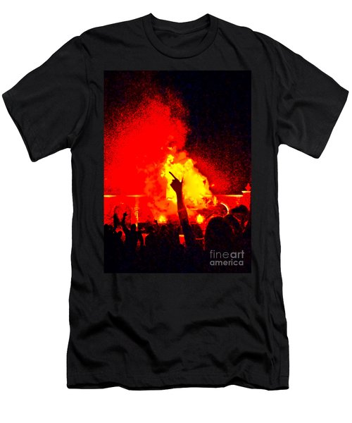 Men's T-Shirt (Athletic Fit) featuring the photograph Guns-up Salute by Mae Wertz