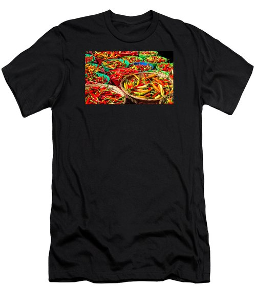 Healthy Chili Peppers Men's T-Shirt (Athletic Fit)