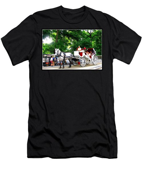 Horse And Carriage In Central Park Men's T-Shirt (Athletic Fit)