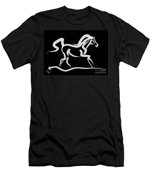 Horse-runner Men's T-Shirt (Athletic Fit)