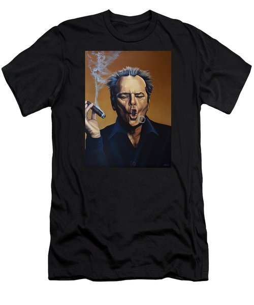 Jack Nicholson Painting Men's T-Shirt (Slim Fit) by Paul Meijering
