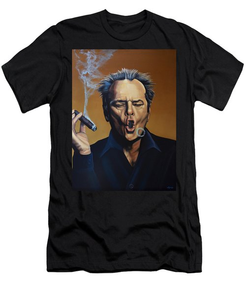 Jack Nicholson Painting Men's T-Shirt (Athletic Fit)