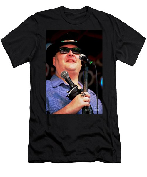 John Popper Men's T-Shirt (Slim Fit) by Angela Murray