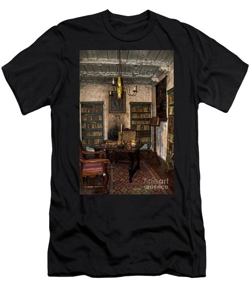 Junipero Serra Library In Carmel Mission Men's T-Shirt (Athletic Fit)