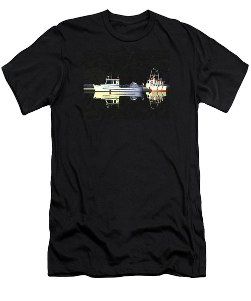 Last Light  Island Moorage Men's T-Shirt (Slim Fit) by Gary Giacomelli