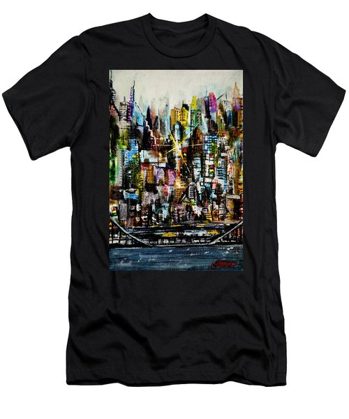 Manhattan Morning Men's T-Shirt (Slim Fit)