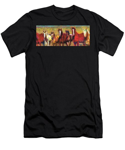 Mares And Foals Men's T-Shirt (Athletic Fit)