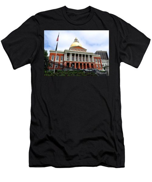 Massachusetts State House Boston Ma Men's T-Shirt (Athletic Fit)