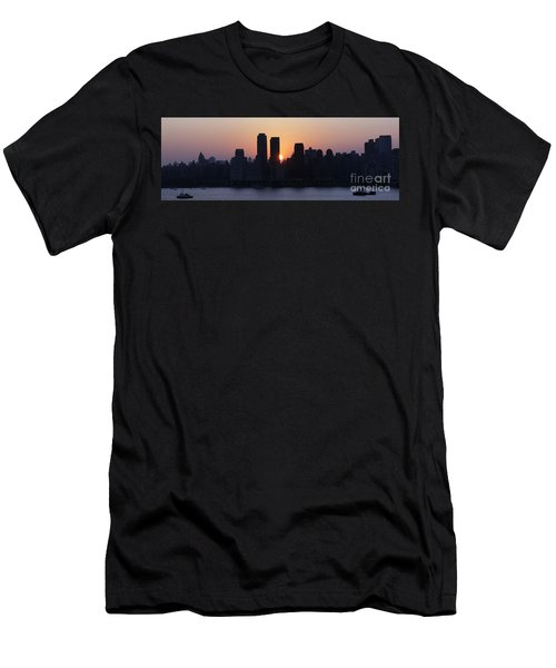 Men's T-Shirt (Slim Fit) featuring the photograph Morning On The Hudson by Lilliana Mendez