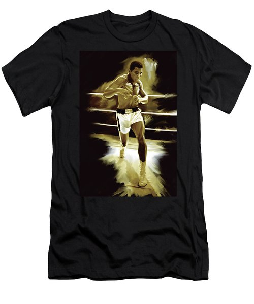 Muhammad Ali Boxing Artwork Men's T-Shirt (Athletic Fit)
