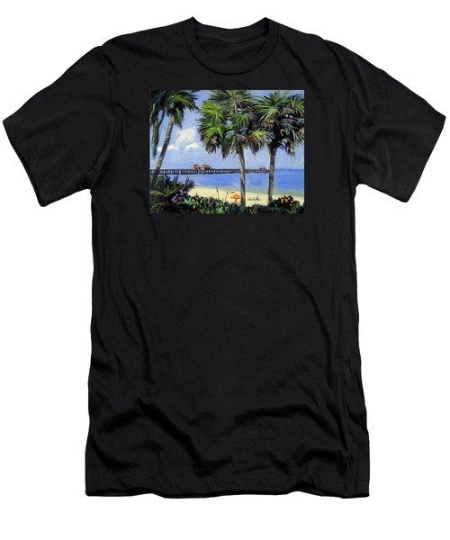 Naples Pier Naples Florida Men's T-Shirt (Athletic Fit)