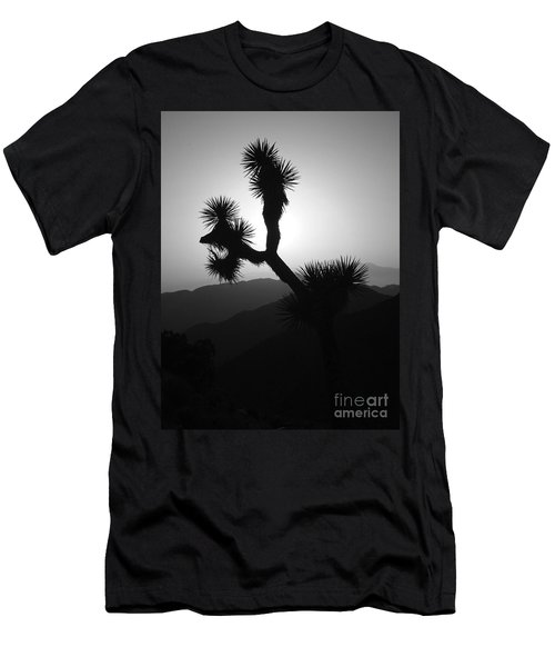 New Photographic Art Print For Sale Joshua Tree At Sunset Black And White Men's T-Shirt (Athletic Fit)
