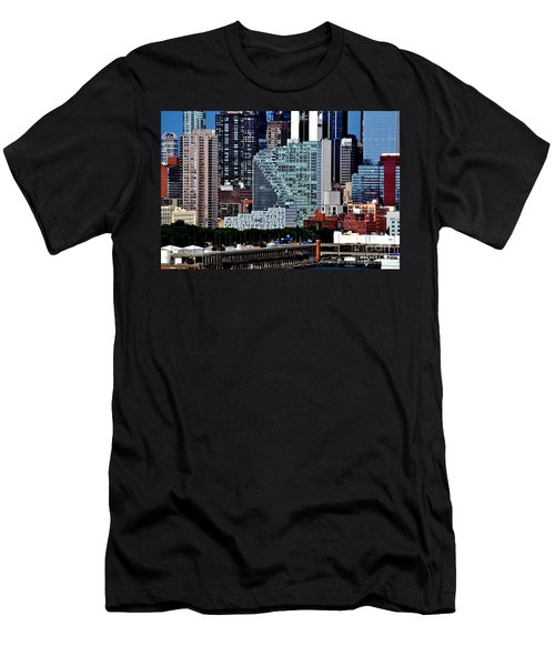 New York City Skyline With Mercedes House Men's T-Shirt (Athletic Fit)