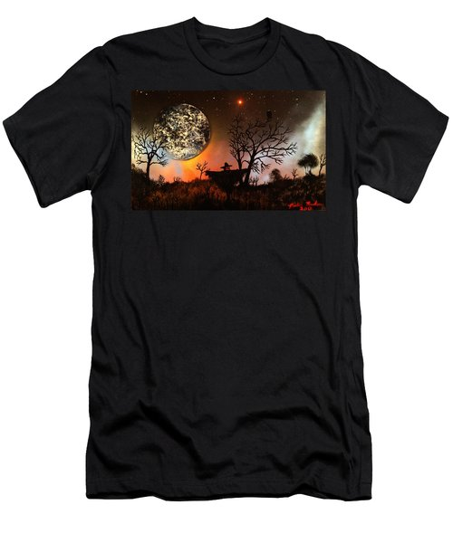 Night Of The Scarecrow  Men's T-Shirt (Slim Fit) by Michael Rucker