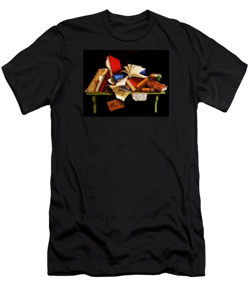Old Books For Sale Men's T-Shirt (Slim Fit) by Barry Williamson