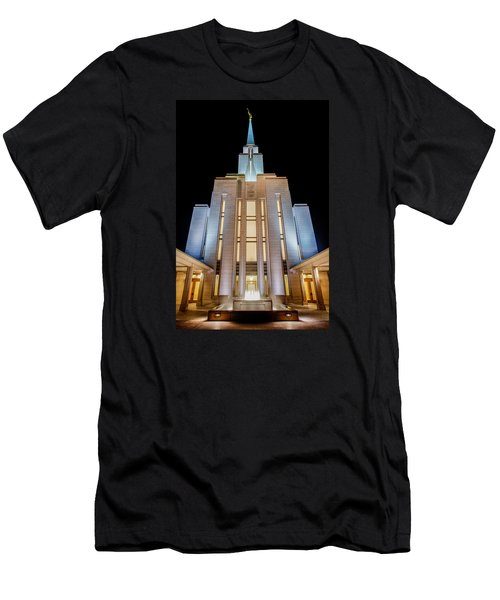 Oquirrh Mountain Temple 1 Men's T-Shirt (Athletic Fit)