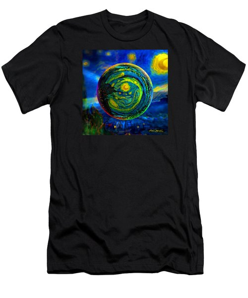 Men's T-Shirt (Slim Fit) featuring the digital art Orbiting A Starry Night  by Robin Moline