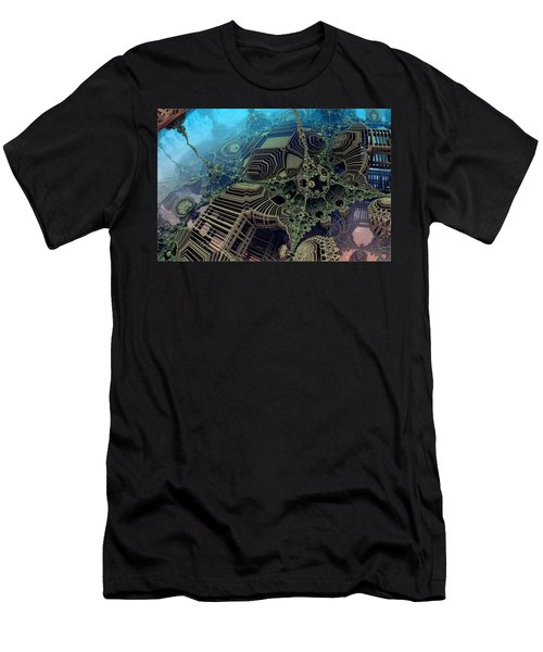 Men's T-Shirt (Slim Fit) featuring the digital art Parallel World  by Evgeniy Lankin