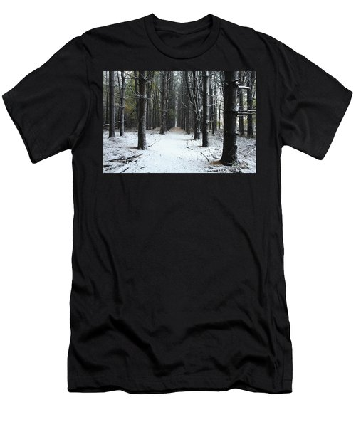 Pines In Snow Men's T-Shirt (Athletic Fit)