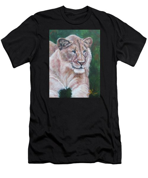 Queen Of The Beast,lioness Men's T-Shirt (Athletic Fit)