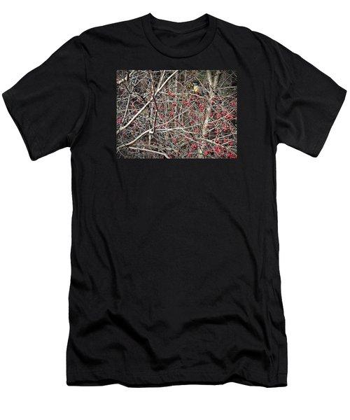 Men's T-Shirt (Slim Fit) featuring the photograph Robin by Joy Nichols