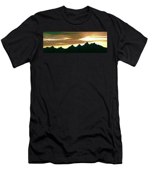 Silhouette Of The Teton Range Men's T-Shirt (Athletic Fit)