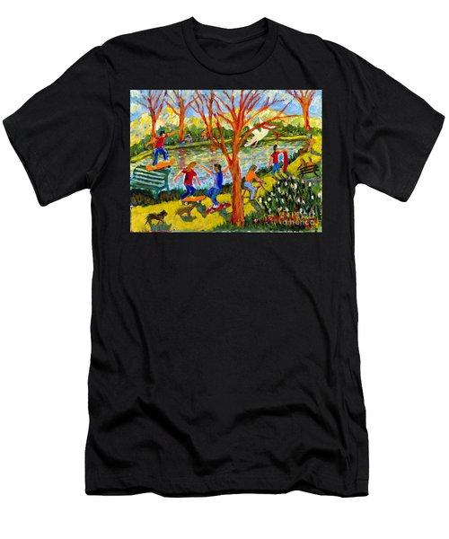 Skateboarders Men's T-Shirt (Athletic Fit)