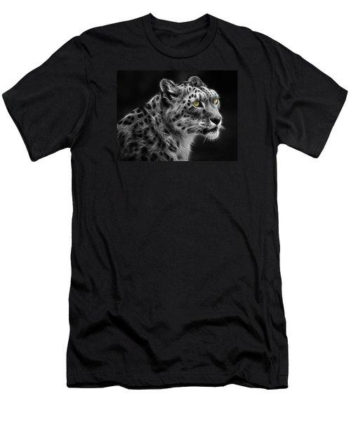 Men's T-Shirt (Slim Fit) featuring the digital art Snow Leopard by Nina Bradica