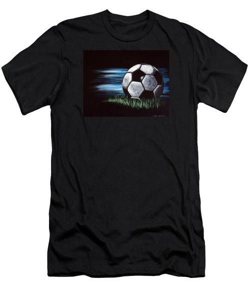 Soccer Ball Men's T-Shirt (Athletic Fit)