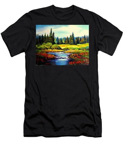 Springtime Men's T-Shirt (Slim Fit) by Hazel Holland